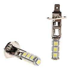 H1 2.5W 13x5050 SMD witte LED lamp voor in de auto Koplamp Mistlamp (12V, 2-pack)