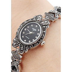 Women's Alloy Quartz Analog Bracelet Watch (Black)