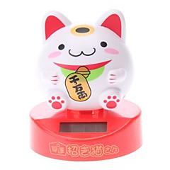 Solar Powered Nette Lucky Cat Kopfschütteln Desktop-Toy