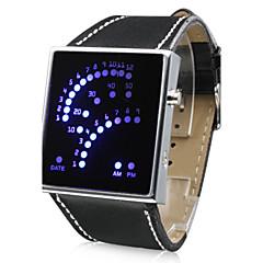 Orologio 29-LED (blu), dall'originale design a punti - Nero