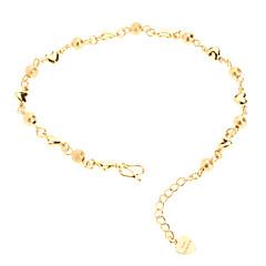Dull Polish Bead Heart Shaped Gold-plated Bracelace