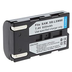digital video batteri ersätter Samsung SB-LSM80 för Samsung SC-d-serien och mer (7.4V, 820 mAh)
