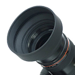 58mm Rubber Lens Hood for Wide angle, Standard, Telephoto Lens