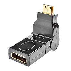 mini HDMI dugó HDMI női forgatható adapter Samsung Galaxy S3 i9300 és a többiek