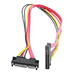 Male to Female SATA 7+15 Cable (0.5 m)