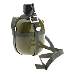 Outdoor Alumiini Military vesipullo Olkahihna (Army Green, 1.5L)