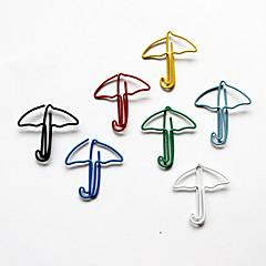Umbrella Style Colorful Paper Clips (Random Color, 10-Pack)