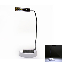 Solar USB Powered 4-LED White Light Flexible Table Lamp