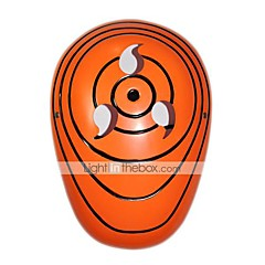 Mask Inspired by Naruto Itachi Uchiha Anime Cosplay Accessories Mask Orange PVC Male