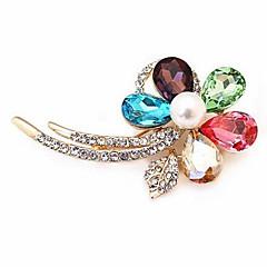 kristal bloem diamanten bezaaid schijnt broche