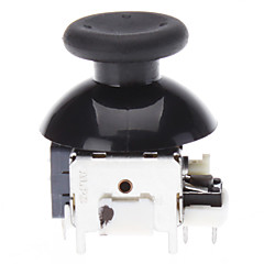 Replacement 3D Rocker Joystick Cap Shell Mushroom Caps for XBOX360 Wireless Controller (Black)