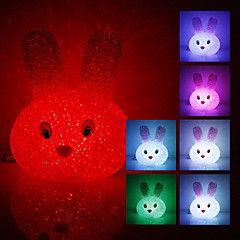 Rabbit Kryształ Shaped Kolor Zmiana LED Night Light (USB)