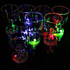 χρώμα αναβοσβήνει μικρή κύλικα με φλας LED (1 τεμ)
