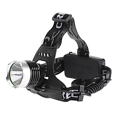 LED Flashlights / Headlamps LED 3 Mode 1000 Lumens Rechargeable Cree XM-L T6 18650 Others , Black Aluminum alloy