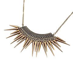lureme®gothic punk vintage stil brons spik tofs choker halsband