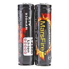 MarsFire 14500 Protected 3.7V 930mAh Rechargeable Li-ion Batteries (2-Pack)
