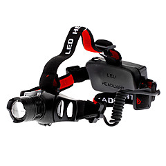 Genopladelige Focus Justerbar zoom 3-Mode Cree Q5 LED forlygte (200LM, 3W, 3xAAA)