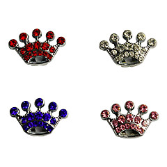 Cat Dog Tag DIY Supplies Rhinestone Tiaras & Crowns White Pink Plastic