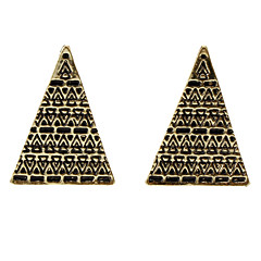 Vintage Old Pattern Triangular Earrings