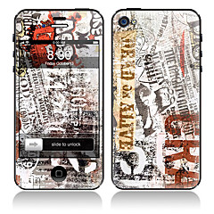Newspaper Design Front and Back Full Body Protector Stickers for iPhone 5