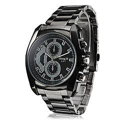 estilo de negócio relógio da liga preta de pulso de quartzo dos homens