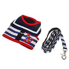 Dog Harness / Leash Adjustable/Retractable Blue Textile