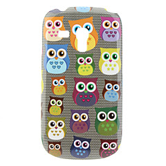Liten Owl Pattern Hard Case för Samsung Galaxy S3 Mini I8190