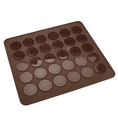 """ws0464 硅胶 垫子 30 个 30 חורים מחצלת עוגיות מקרון סיליקון ס""""מ 83"""