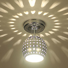 Max 3W Modern/Contemporary LED / Mini Style / Bulb Included Electroplated Metal Flush Mount Living Room / Dining Room / Entry / Hallway