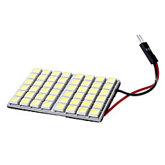 T10/Festoon 6W 48x5050SMD White Light LED pære for bil Reading Lampe (DC 12V)