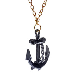 Creative the Rudder Black Pendant Necklace