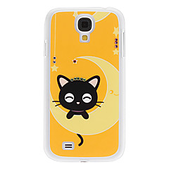 Log Little Kitten Pattern Hard Case med Rhinestone för Samsung Galaxy S4 I9500