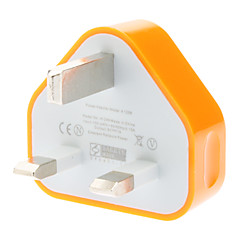 Kolme-pin adapteri Mobile Phones (eri värejä, UK Plug, 5V 1A)