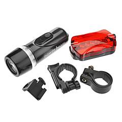 פנס LED / פנסי יד LED 1 מצב Lumens טקטי AAA רכיבה על אופניים - אחרים , שחור פלסטיק