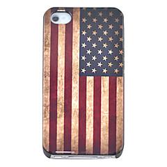 Vintage USA Flag Pattern Hard Case for iPhone 4/4S