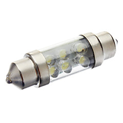 36mm 0.5W 6-LED 20-27LM 6000-6500K White Light Bulb for Car Reading Lamp (DC 12V)