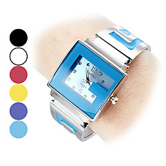 Women's Quartz Analog G-Style Dial Silver Steel Band Bracelet Watch (Assorted Colors)