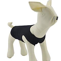 Blanco acanalado chaleco del tanque del algodón para perros