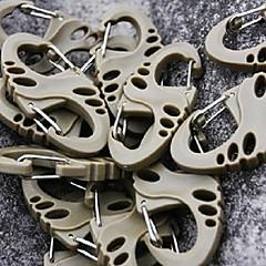 5 x Hollow-out di otto caratteri Shape fibbia in plastica Chiusure (colori casuali)