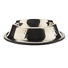 Acero inoxidable Dog Paws Modelo Bowl Mascotas Perros (10x10x3.5cm)