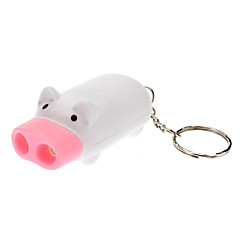 Mini Pig 2 LEDs Flashlight White (3*AG3 Included)