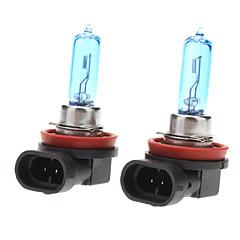 H9 Super White Car Light Bulbs 65W (2-Pack/DC 12V)