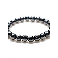 Unisex Natural Hematite Bracelet - 8mm