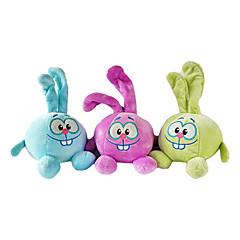 애완 동물 개를위한 두 개의 큰 앞니 스타일 견면 벨벳 장난감 (분류 된 색깔, 22x14x14cm)를 가진 귀여운 토끼