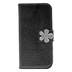 Noble tekojalokivi Fleur suunnittelu PU Leather Case for Samsung Galaxy S4 Mini I9190