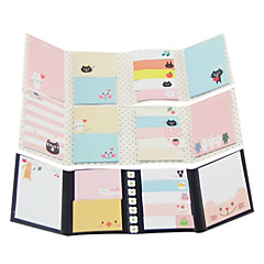 Cartoon Folding Self-Stick Note Set(Random Color)