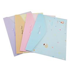Dot Pattern Happy Days Cardboard File(Random Color)