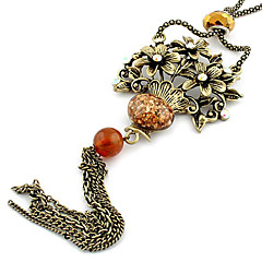 Resin Drip Fashion Flowers Basket Alloy Necklace(Random Color)