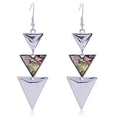 European Style Retro Shell Del Operator Alloy Drop Earrings