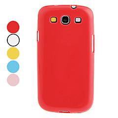 Na Samsung Galaxy Etui Other Kılıf Etui na tył Kılıf Jeden kolor TPU Samsung S3